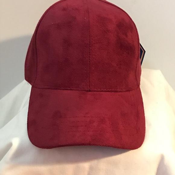 e8eb427894545b Accessories | Faux Suede Burgundy Baseball Cap Dad Hat | Poshmark